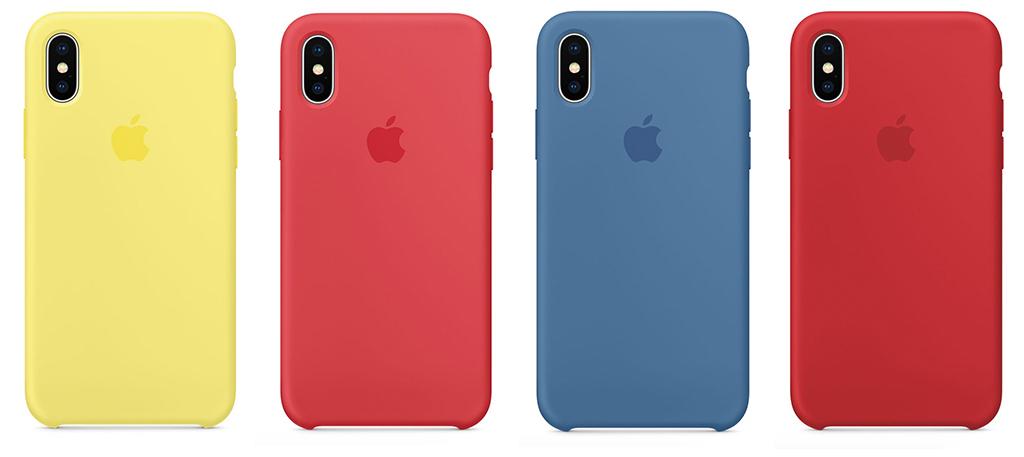 iPhoneXシリコンケース4種類の新色の写真