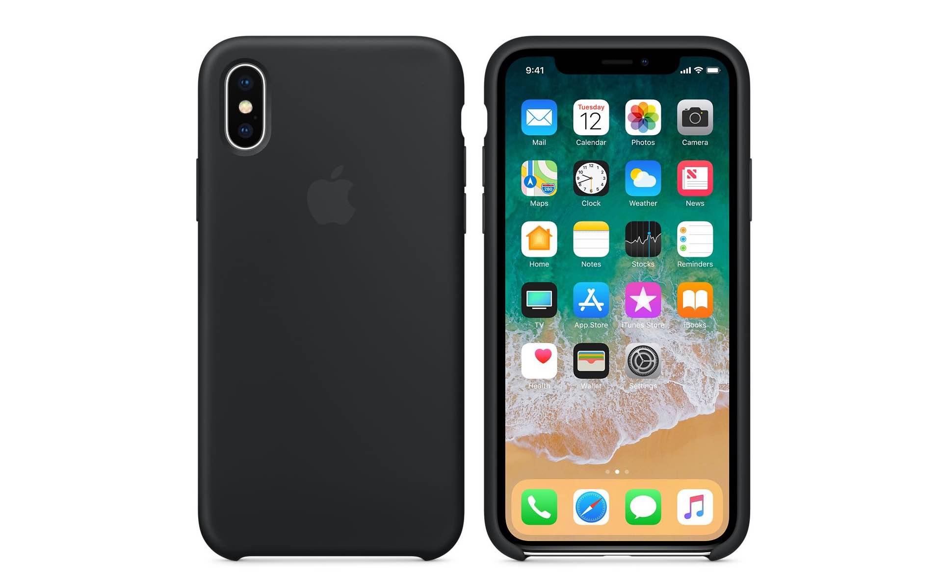 iPhoneXApple純正シリコンケース