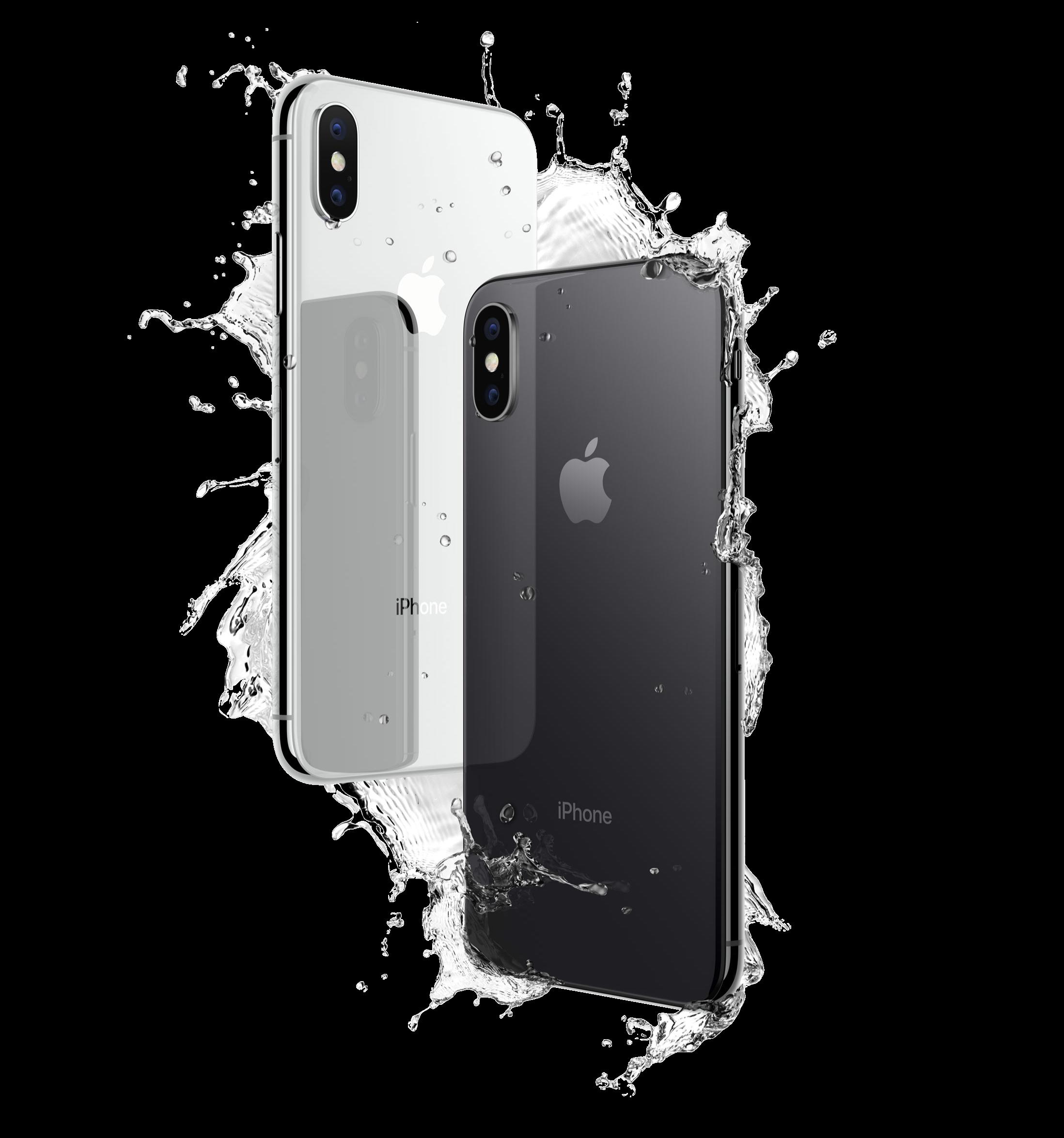 iPhoneXシルバーとスペースグレイの写真