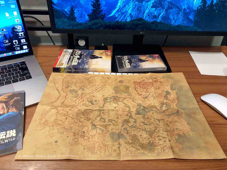 ゼルダの伝説ハイラルのマップの写真