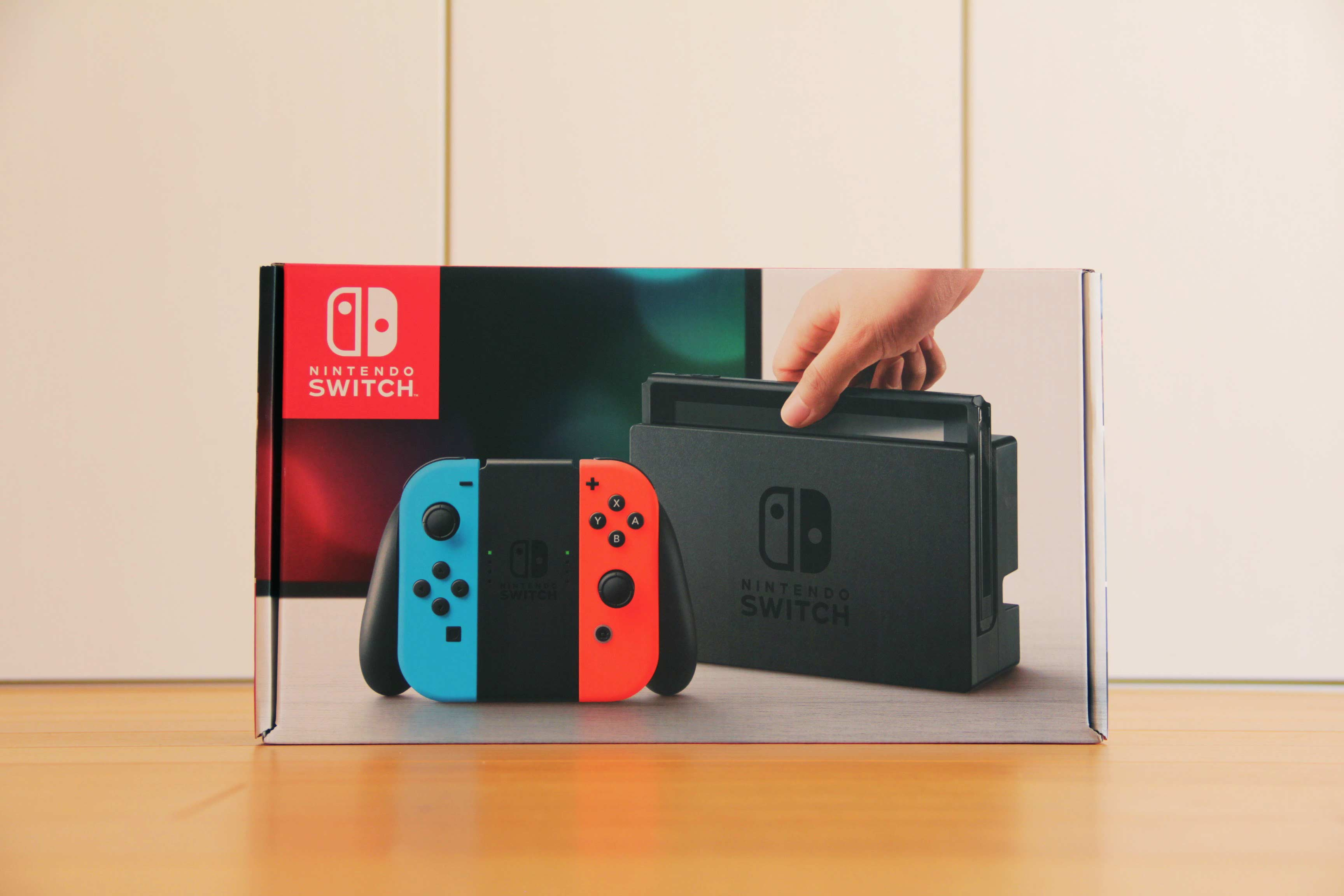 Nintendo switch本体の写真