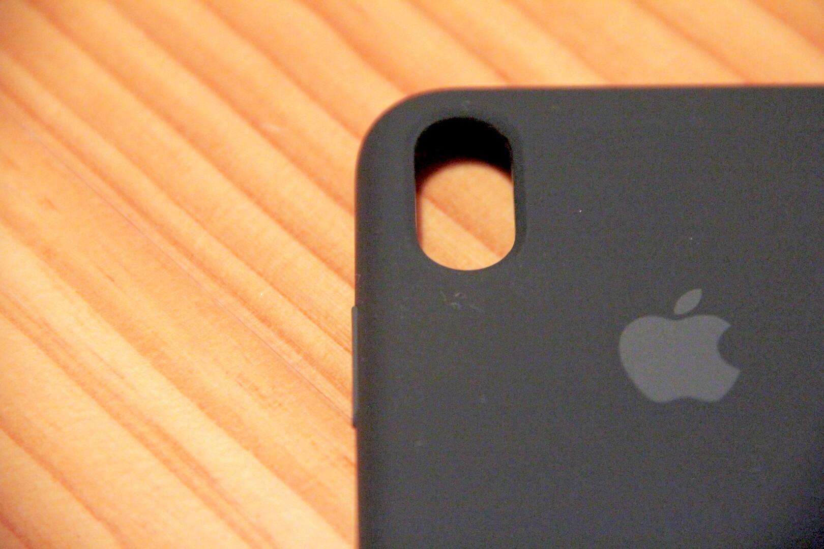 iPhoneXApple純正ケース開口部分の写真