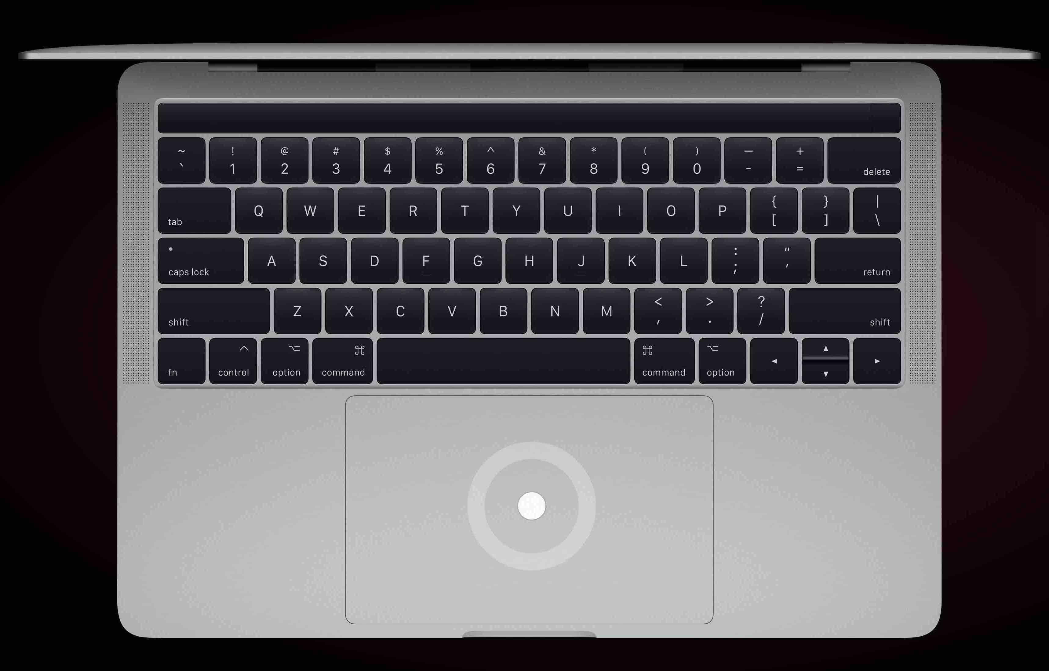 MacBookProタッチパッドの写真