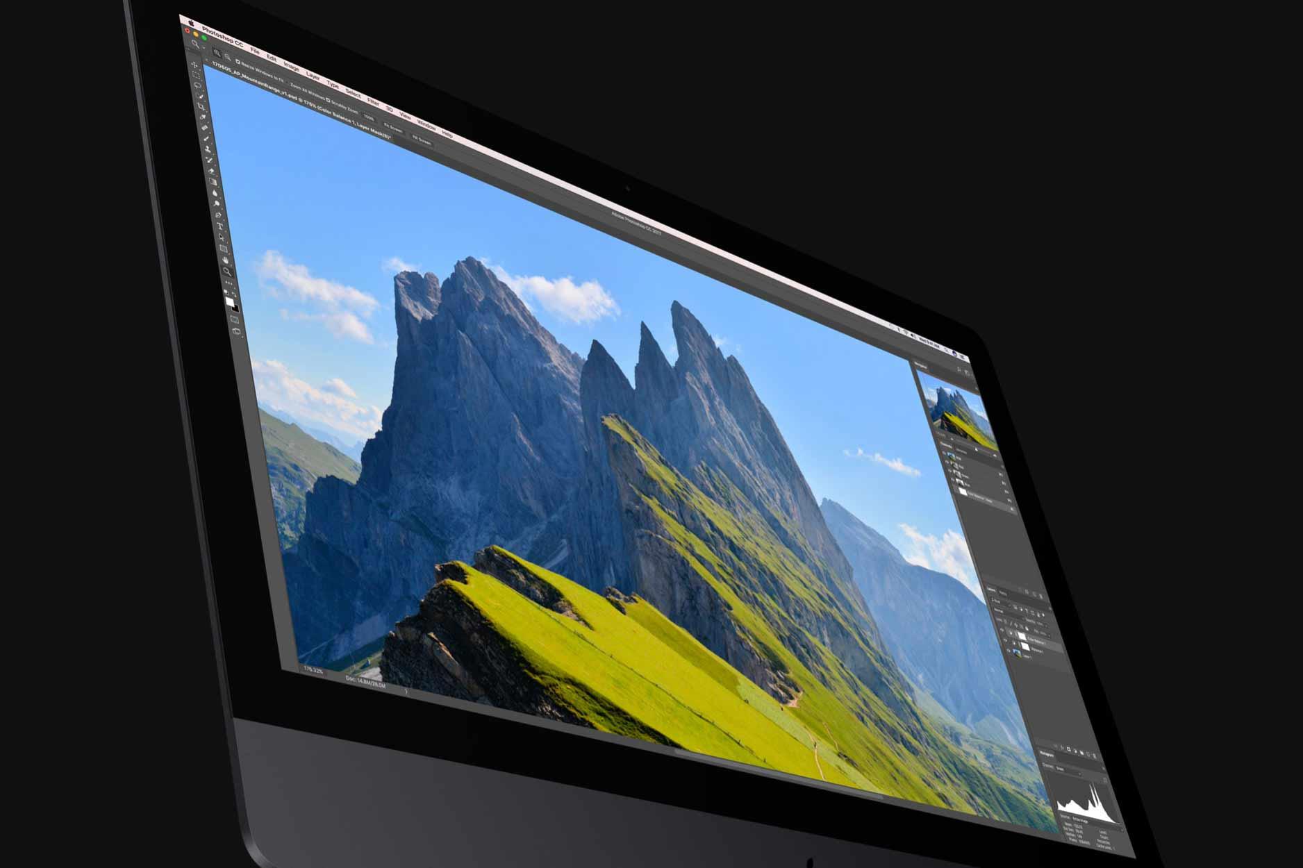 iMac Pro 10億色のディスプレイの写真