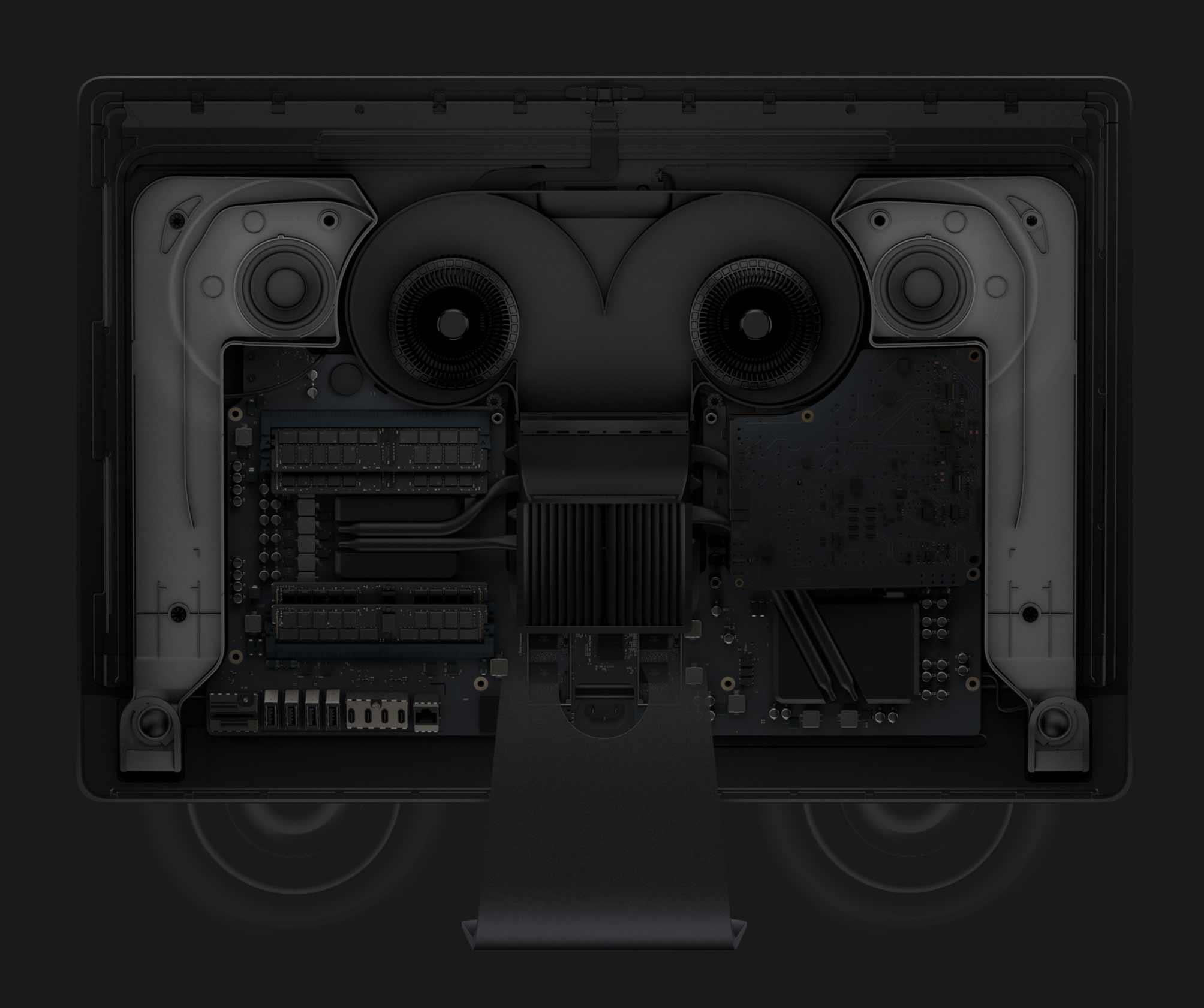 iMac Pro 新しいスピーカーの写真