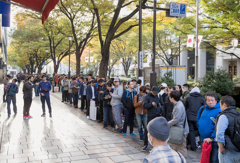 iPhoneX-Launch-Tokyoの写真