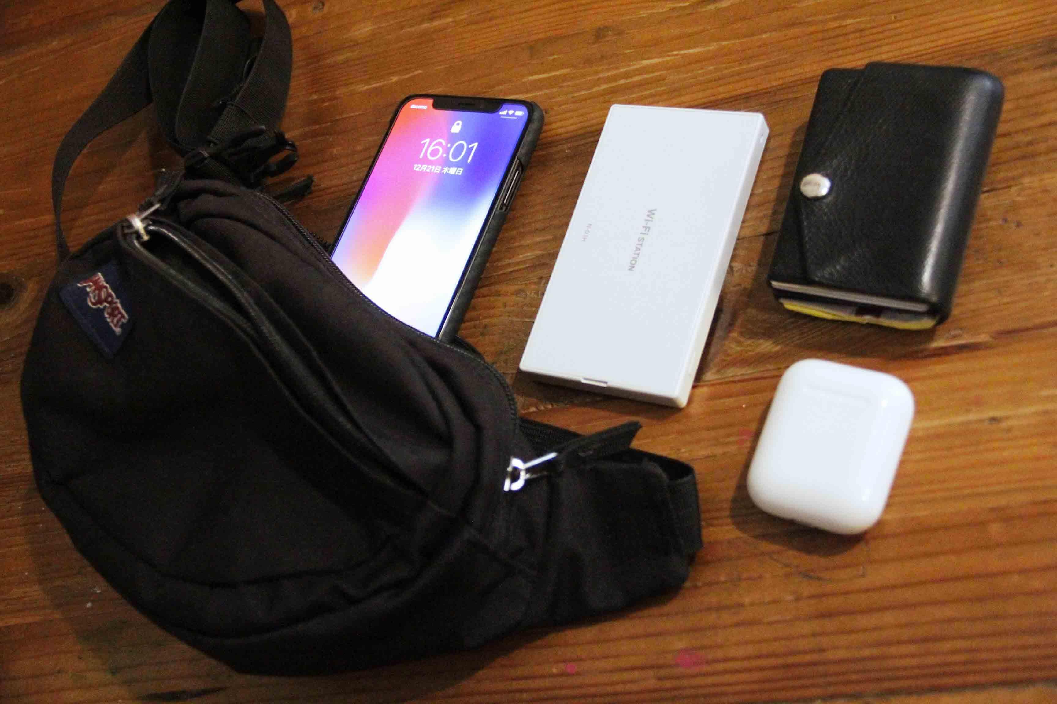 iPhoneXポーチ入れの写真