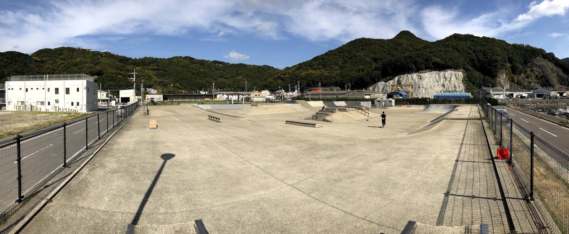 長崎小江スケートパーク全体の写真