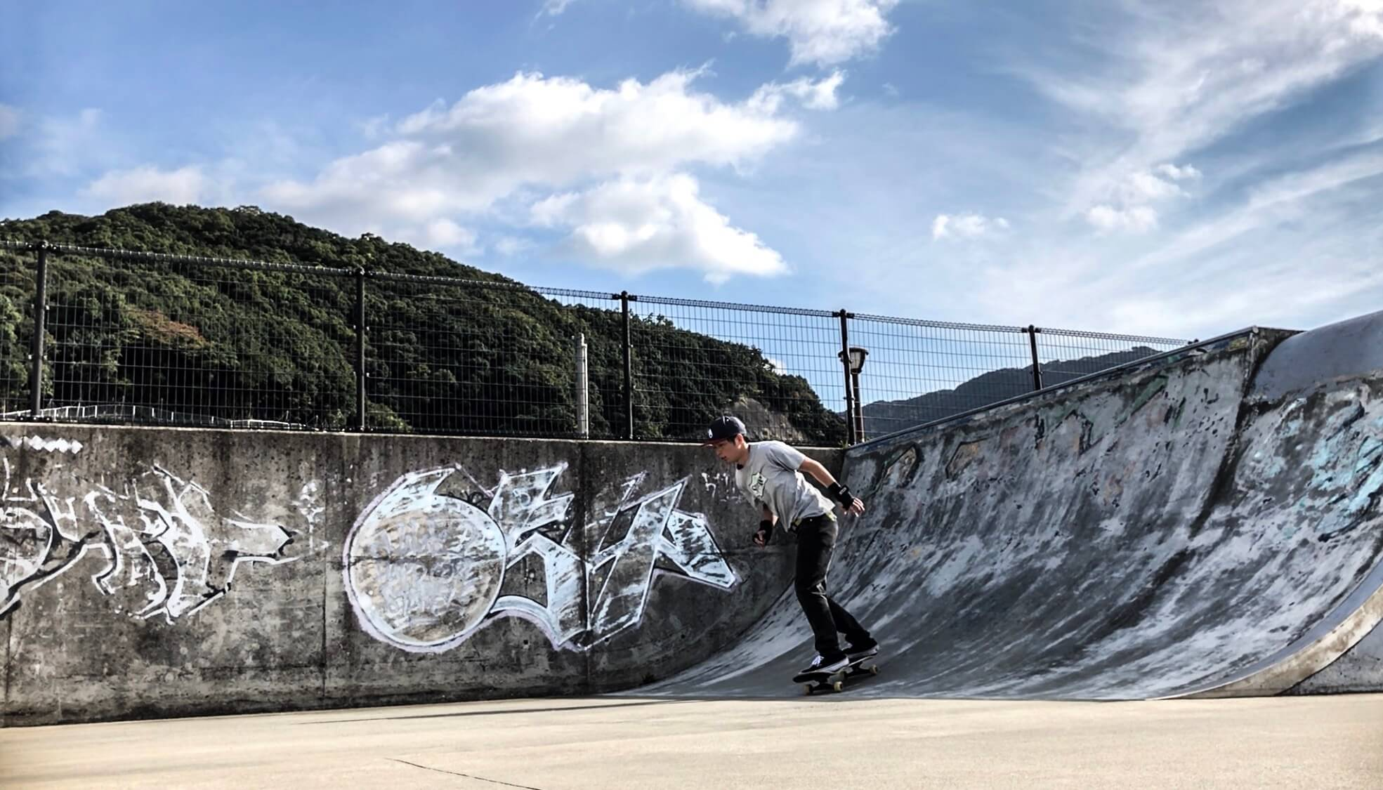 長崎小江スケートパークセクションの写真