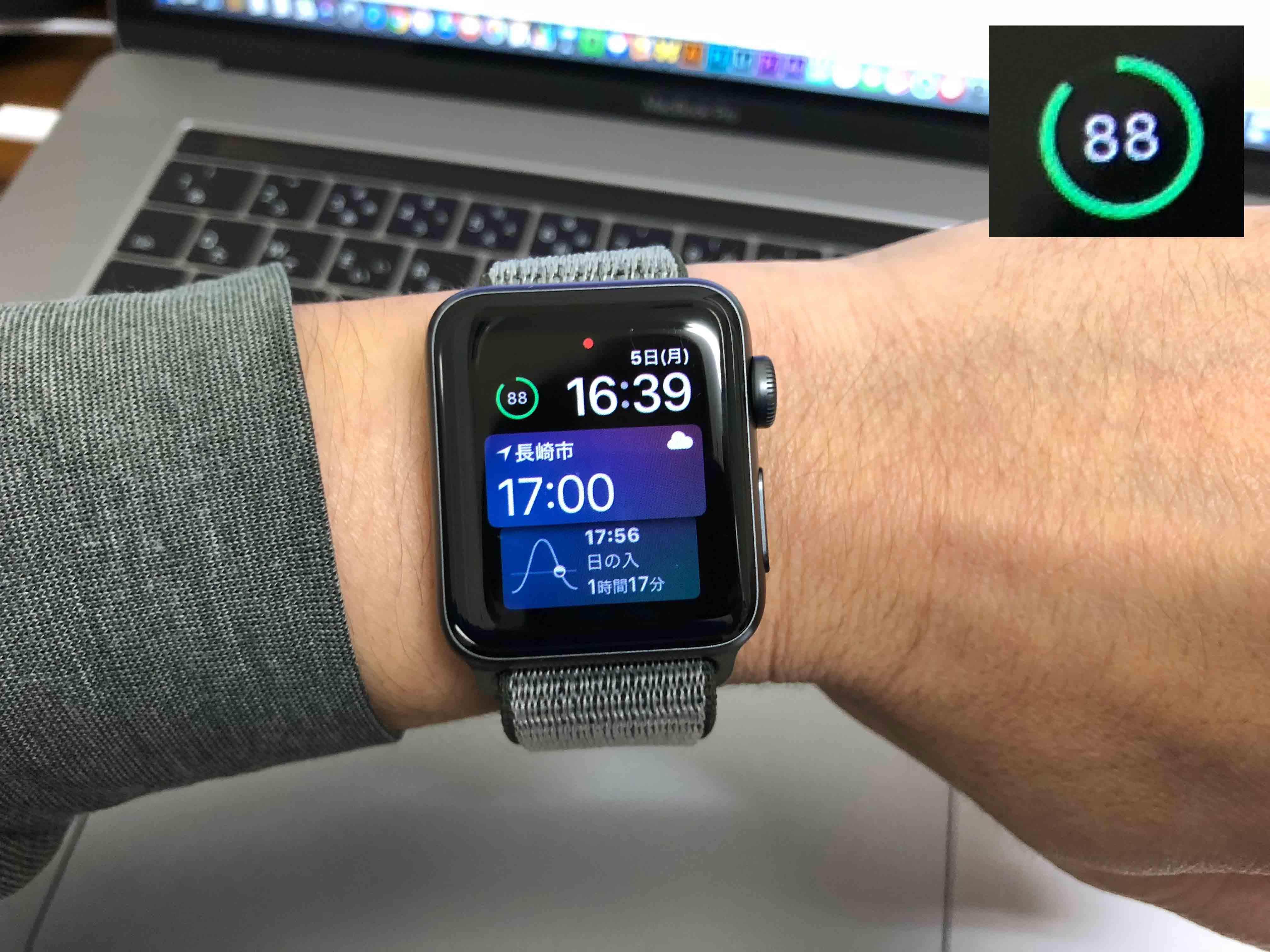 AppleWatchバッテリー88%に関する写真...