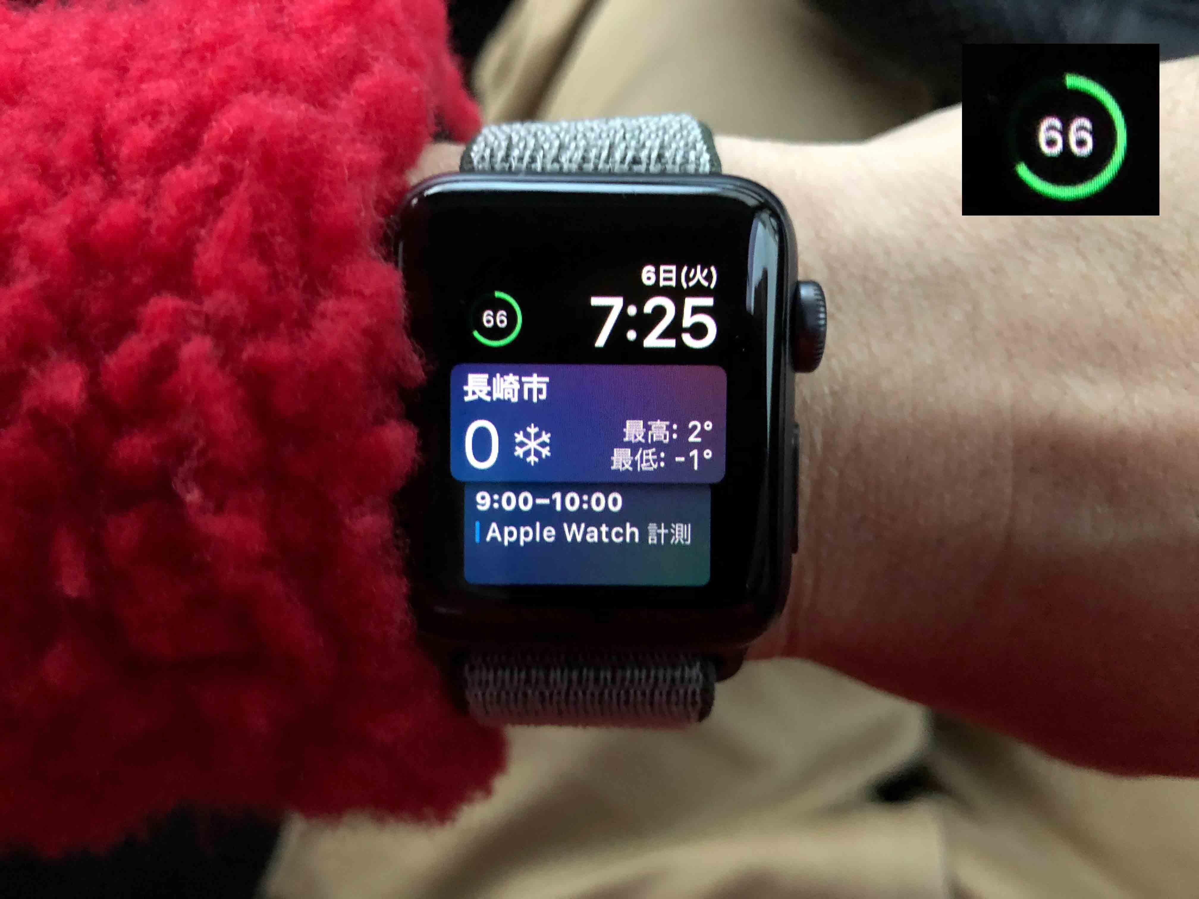 AppleWatchバッテリー66%に関する写真