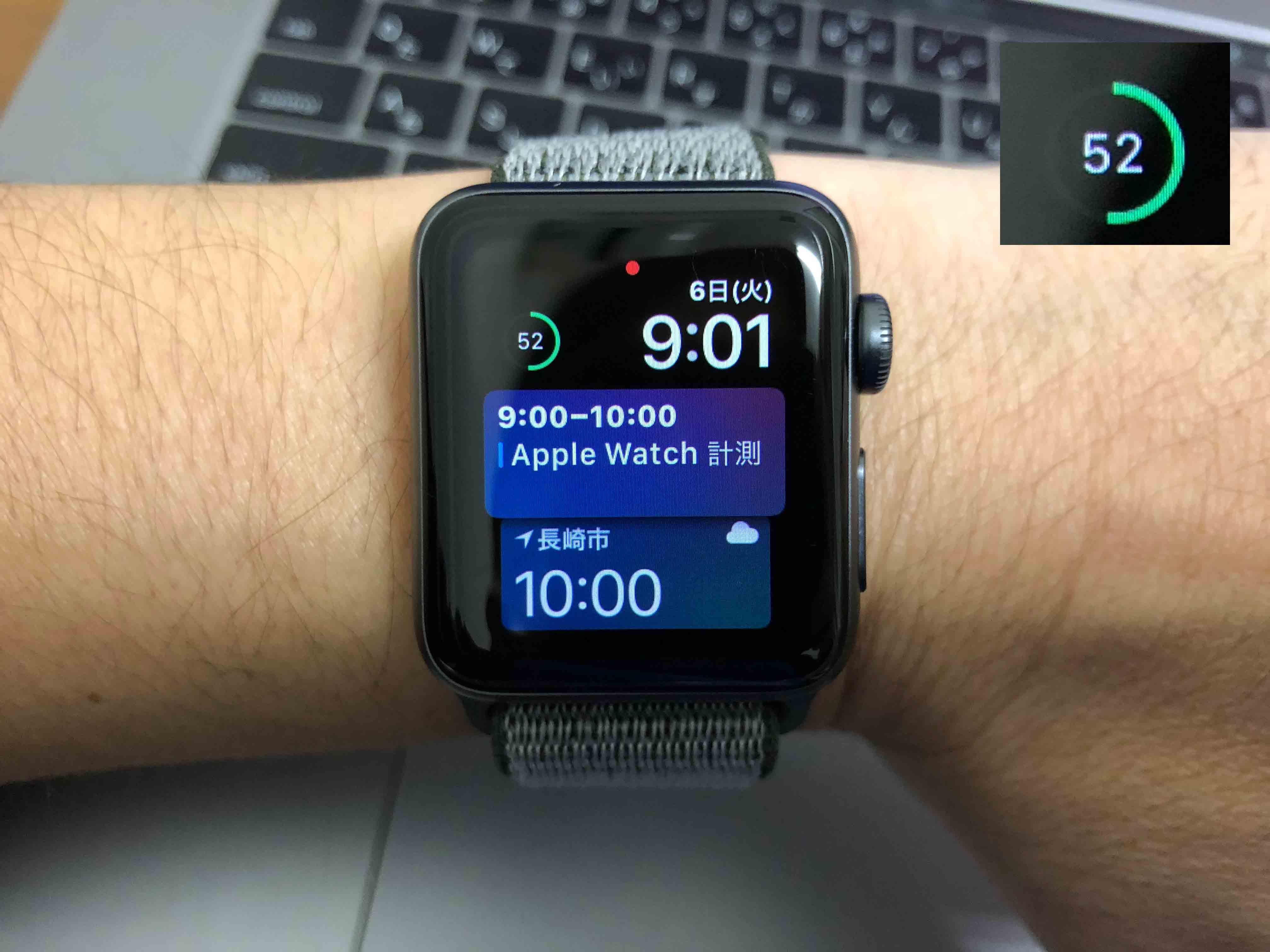 AppleWatchバッテリー52%に関する写真.