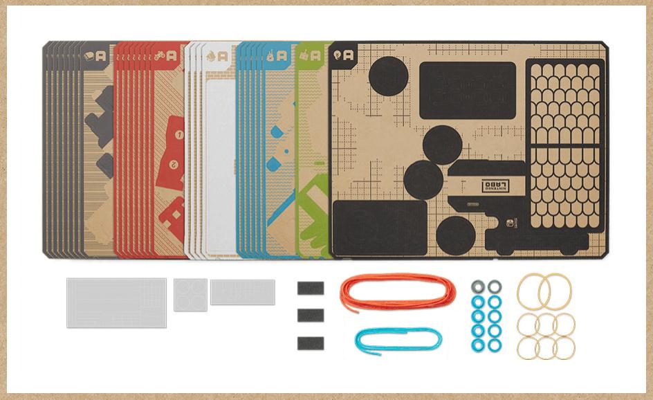 Nintendo Labo Variety Kitmのセット内容の画像