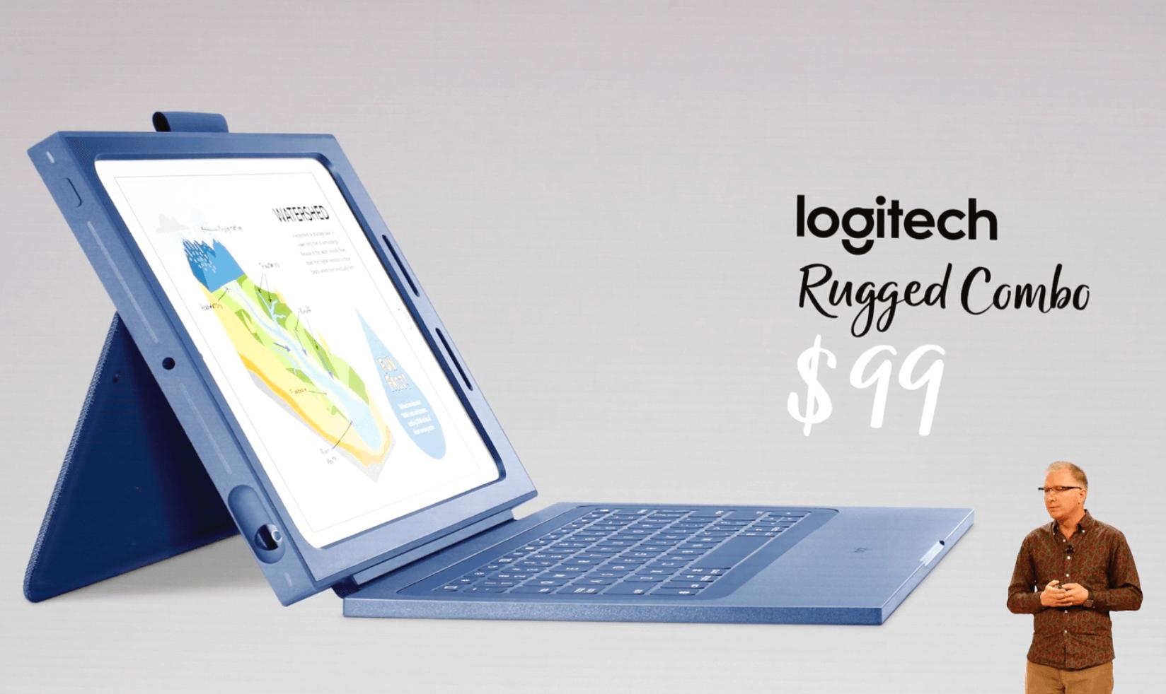 新しいiPad専用の新しいキーボードケースLogitech Rugged Comboの画像
