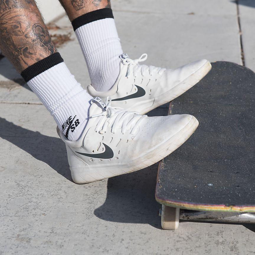 ナイキ-sb-ナイジャ-スケートボードシューズを実際に履いている写真