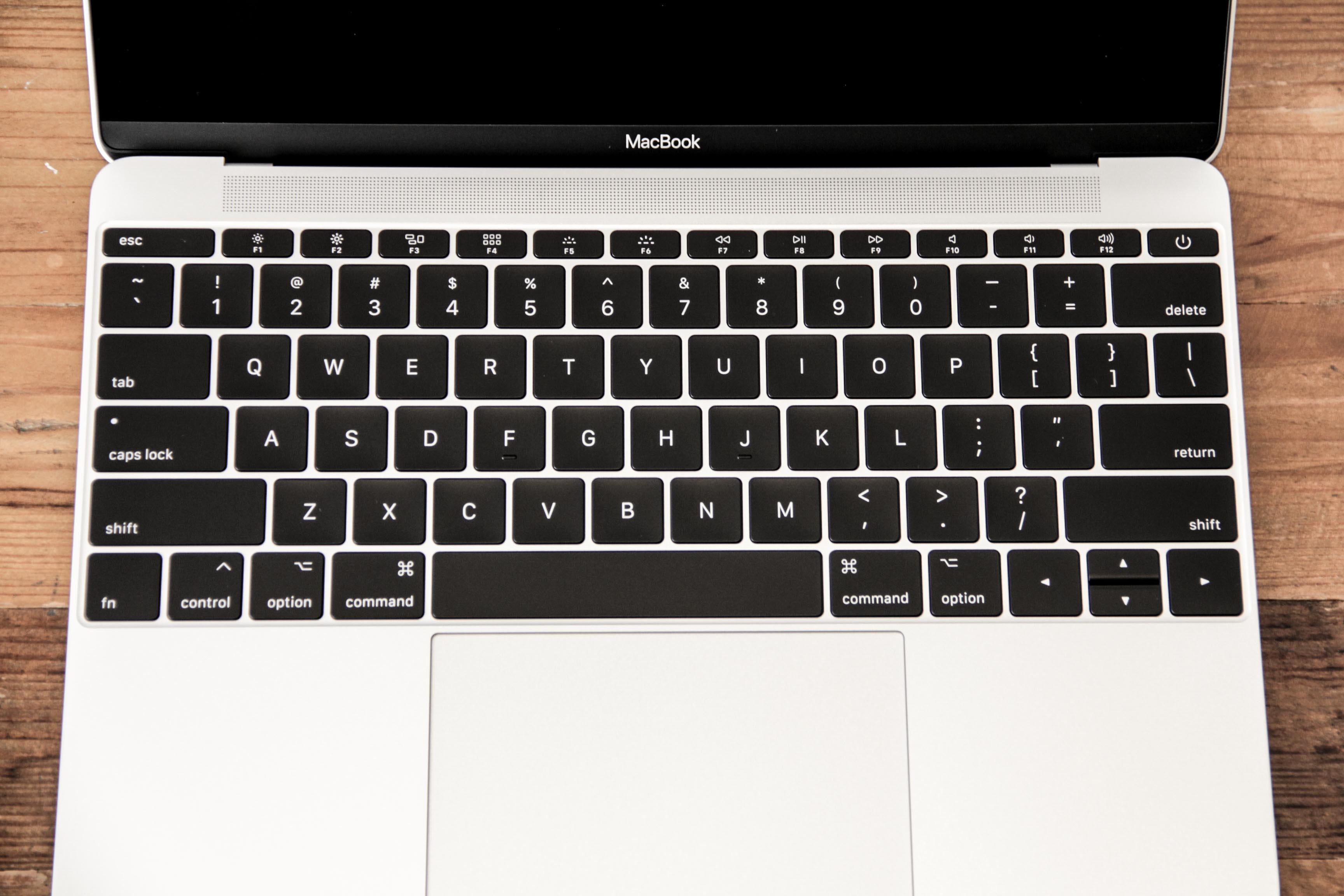 MacBook12インチのUSキーボードの写真