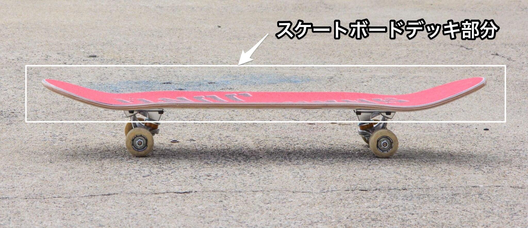 スケートボードのデッキ部分の写真