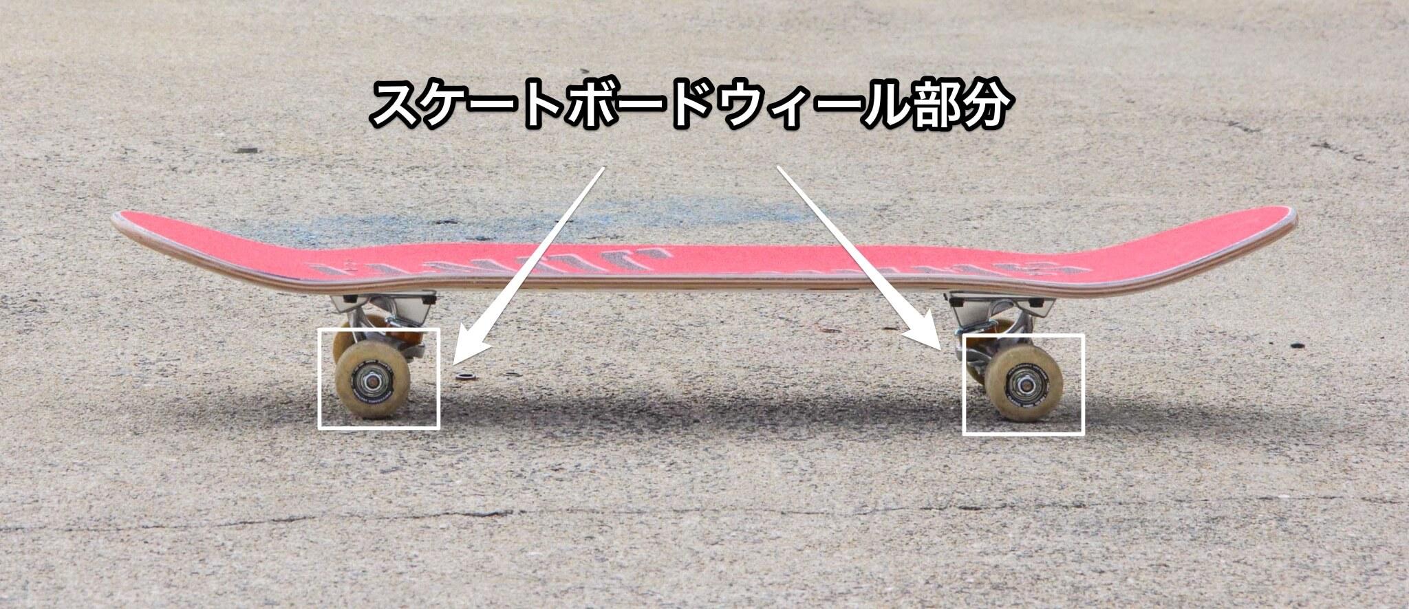 スケートボードのウィール部分の写真
