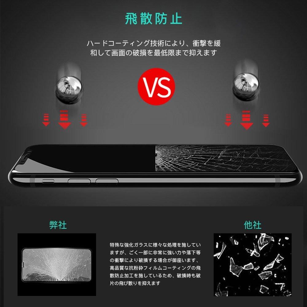 iPhone X JASBONガラスフィルムの飛散防止画像