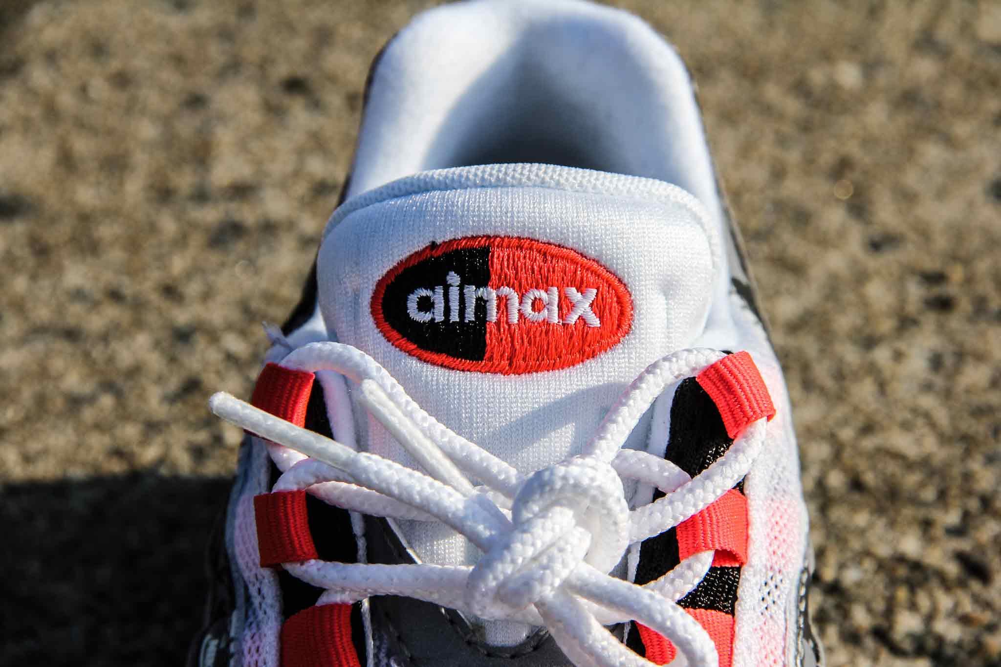 エアマックス95(AirMax)のタン部分の写真