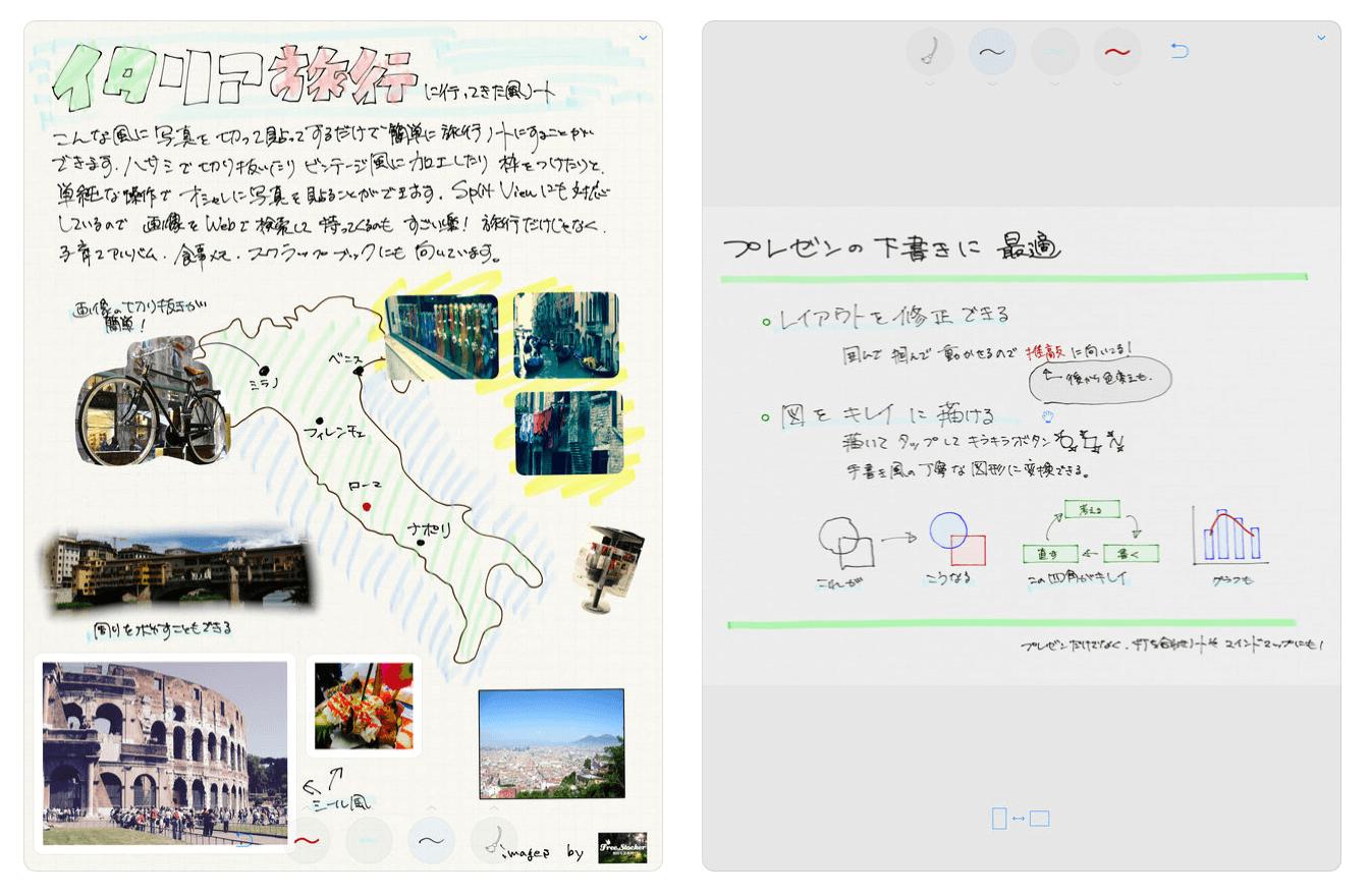 notebilityの実際の使用画像