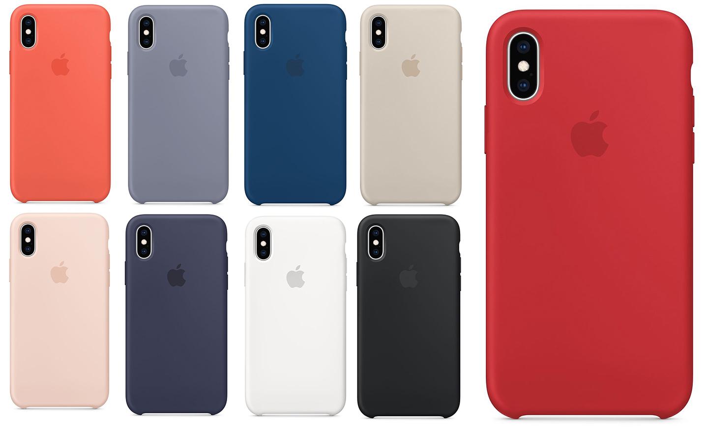 iPhone XS シリコンケースカラーの画像
