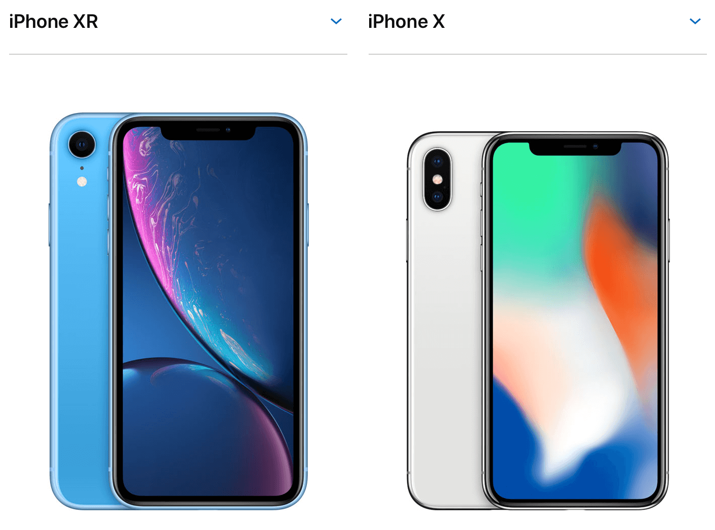 iPhone XR&iPhone X image
