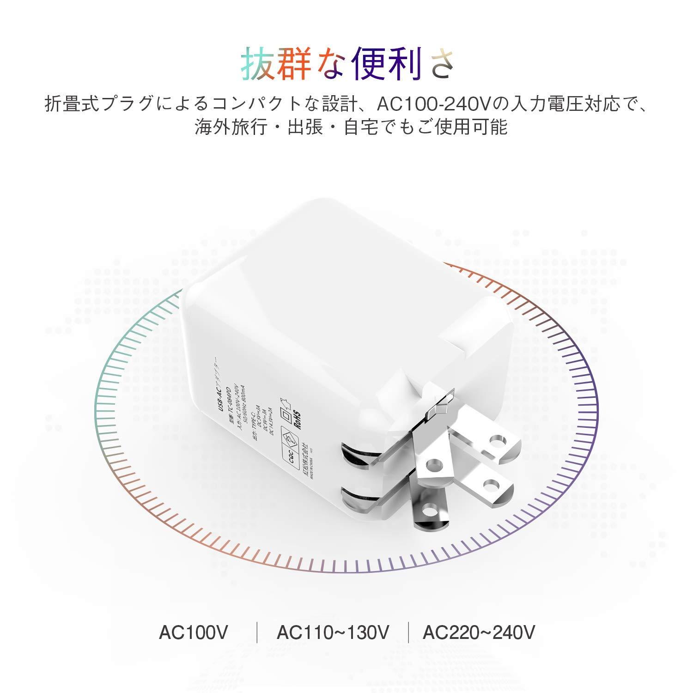 NIsomoのACアダプターのコンパクト設計を表した画像