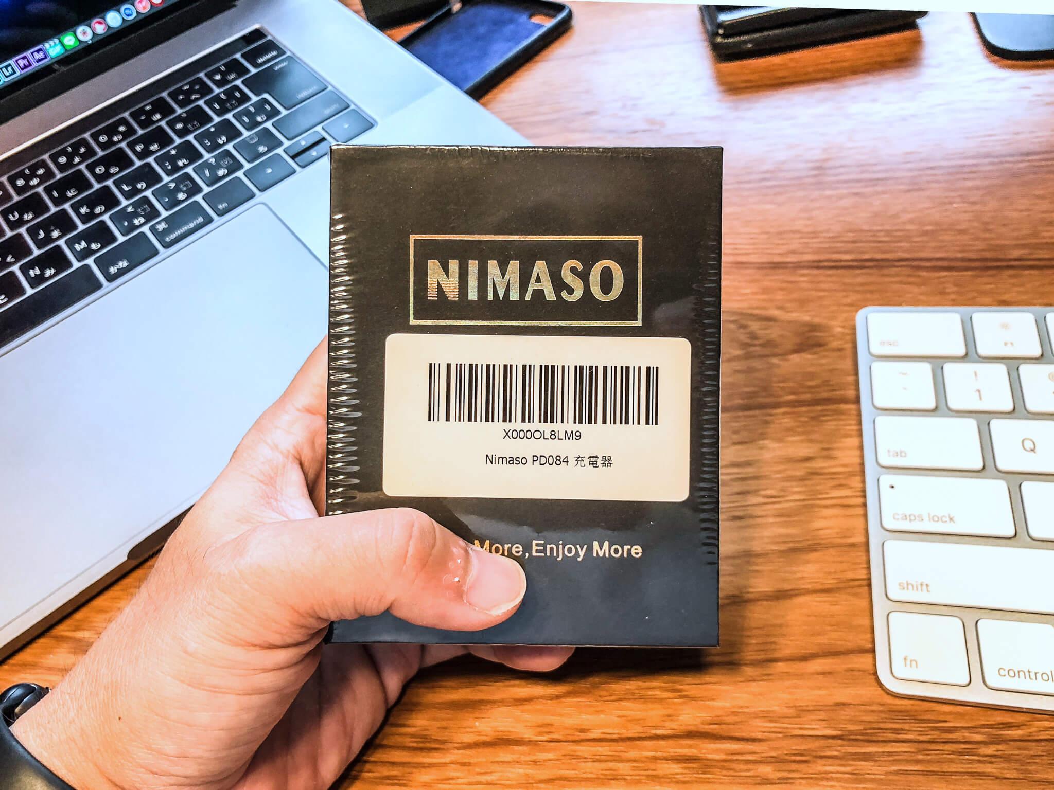NimasoのACアダプタの画像