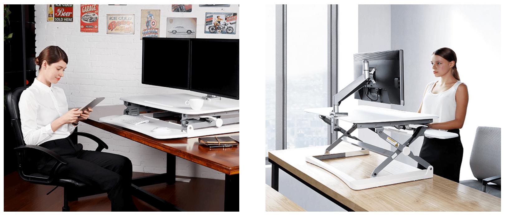 FLEXISPOT 座位・立位両用スタンディングデスク 画像4