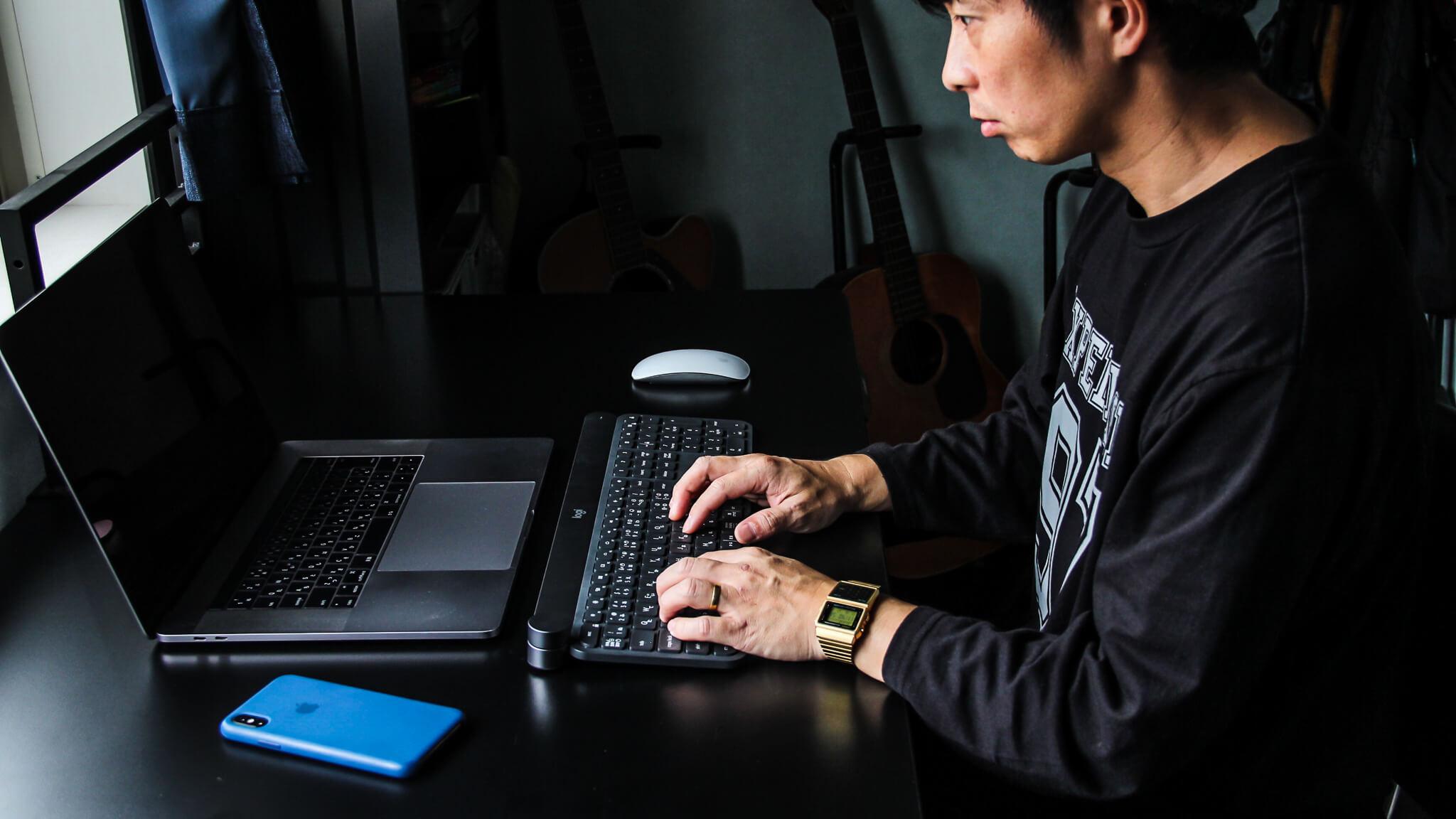Logicool ロジクール CRAFT KX1000s キーボード タイピング
