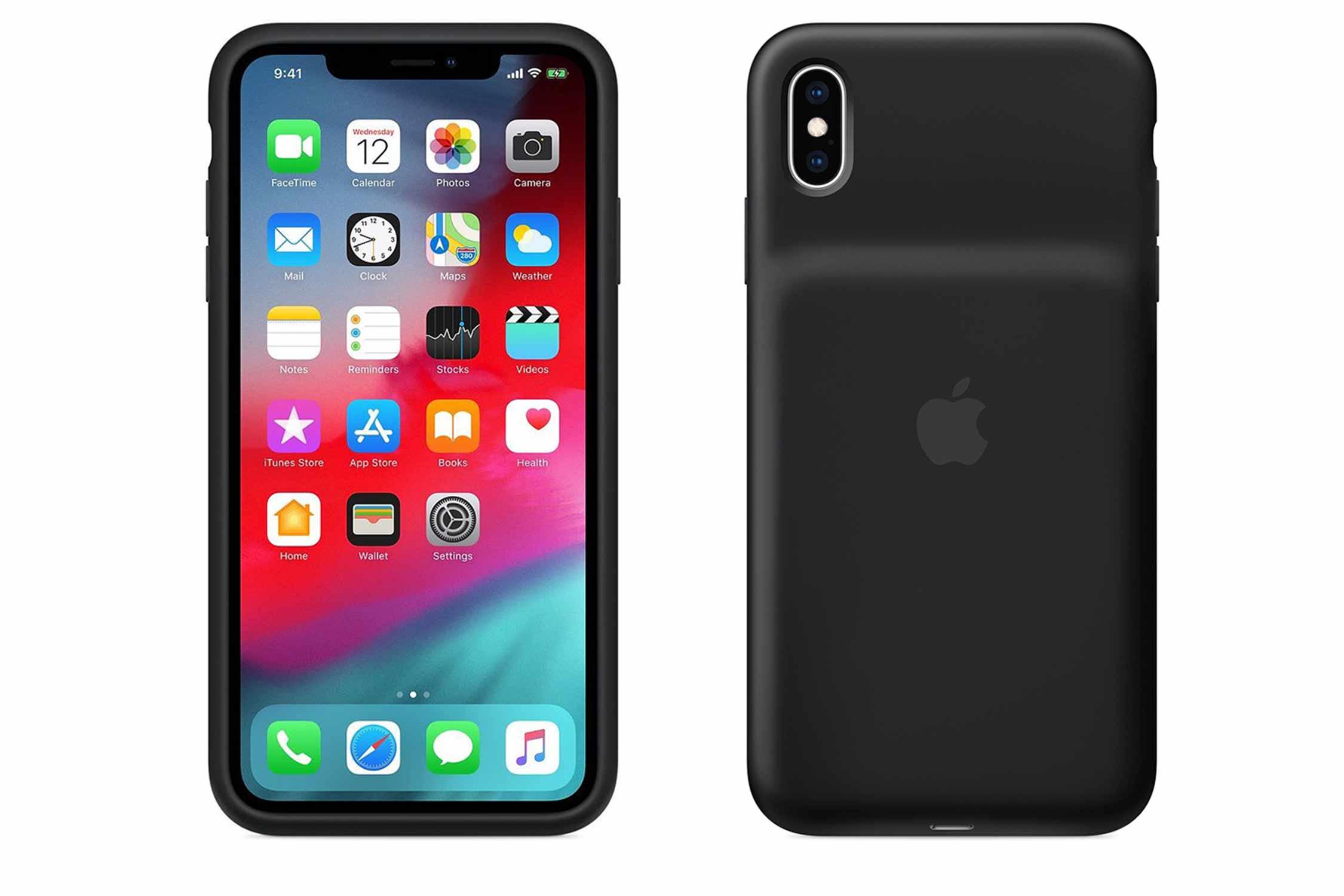 iPhone XS Max バッテリーケース 黒