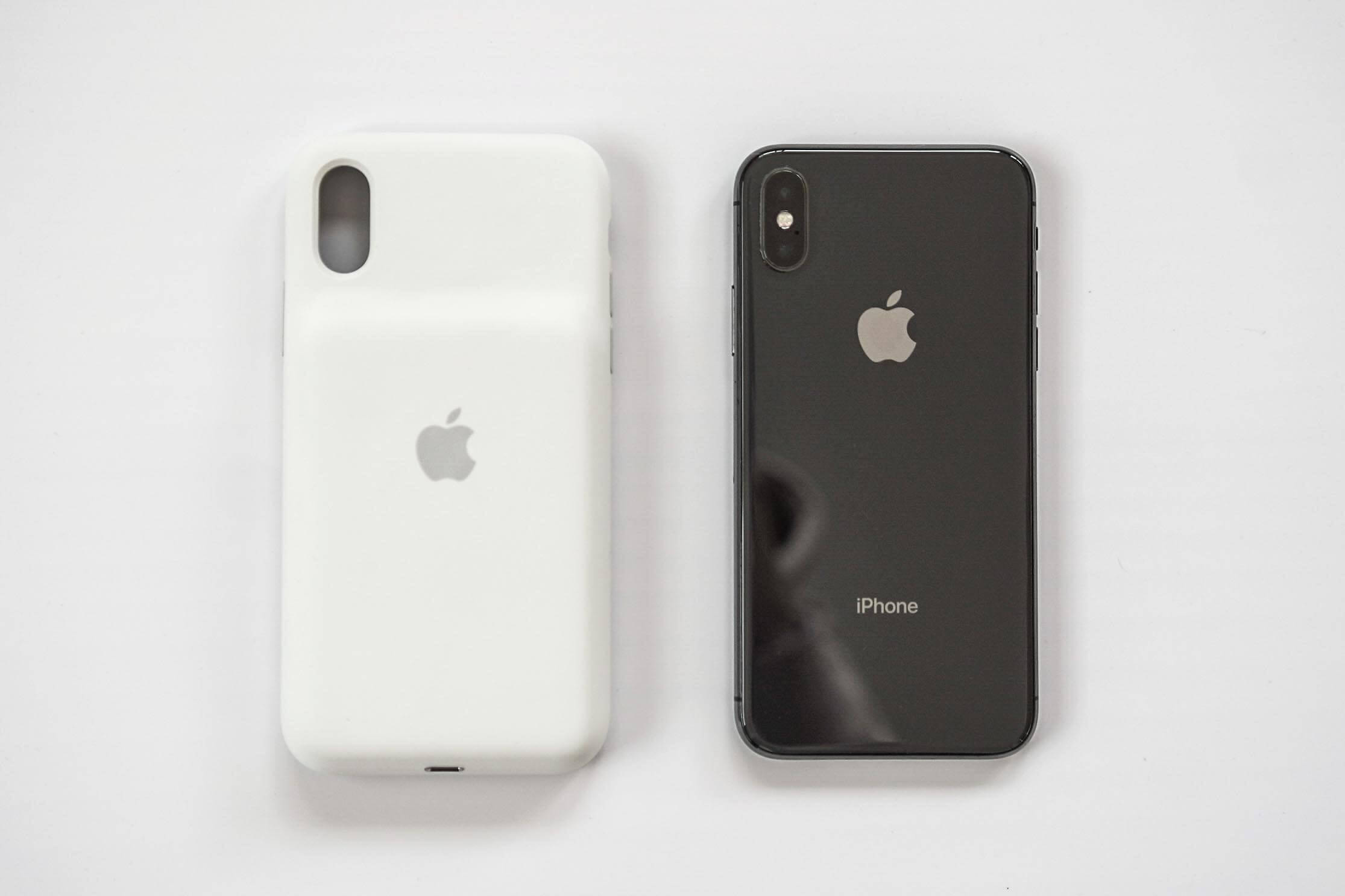 iPhone XS/X スマートバッテリーケースと本体