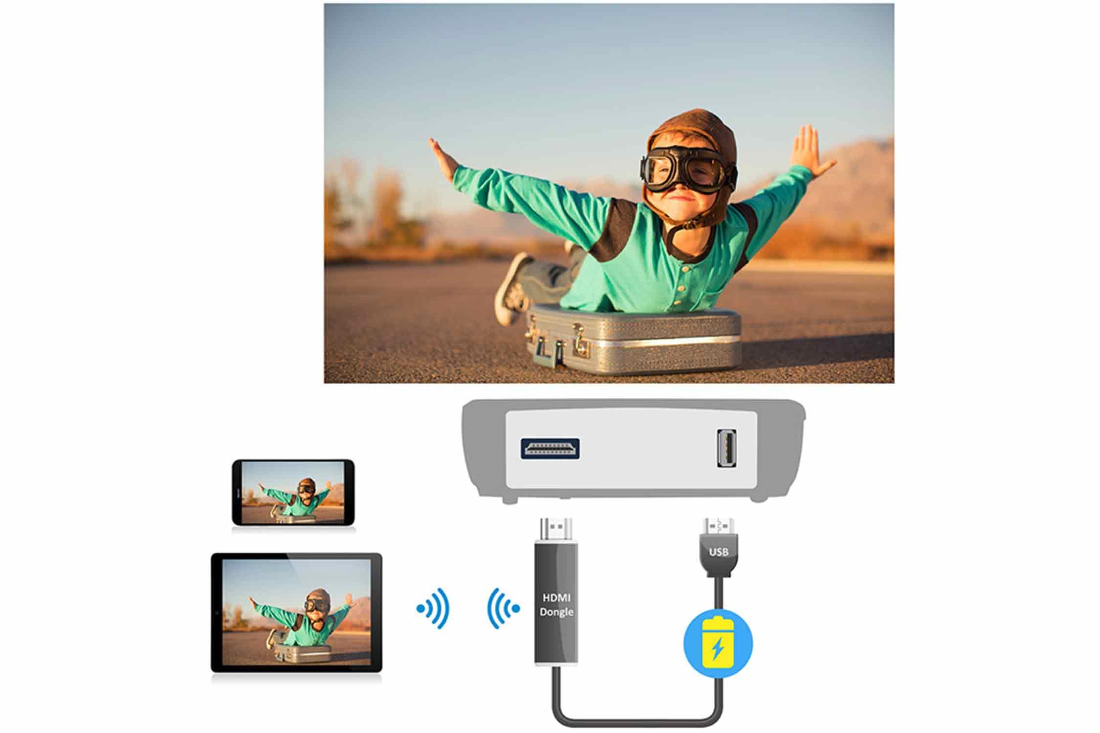 USB電源出力端子を搭載 イメージ