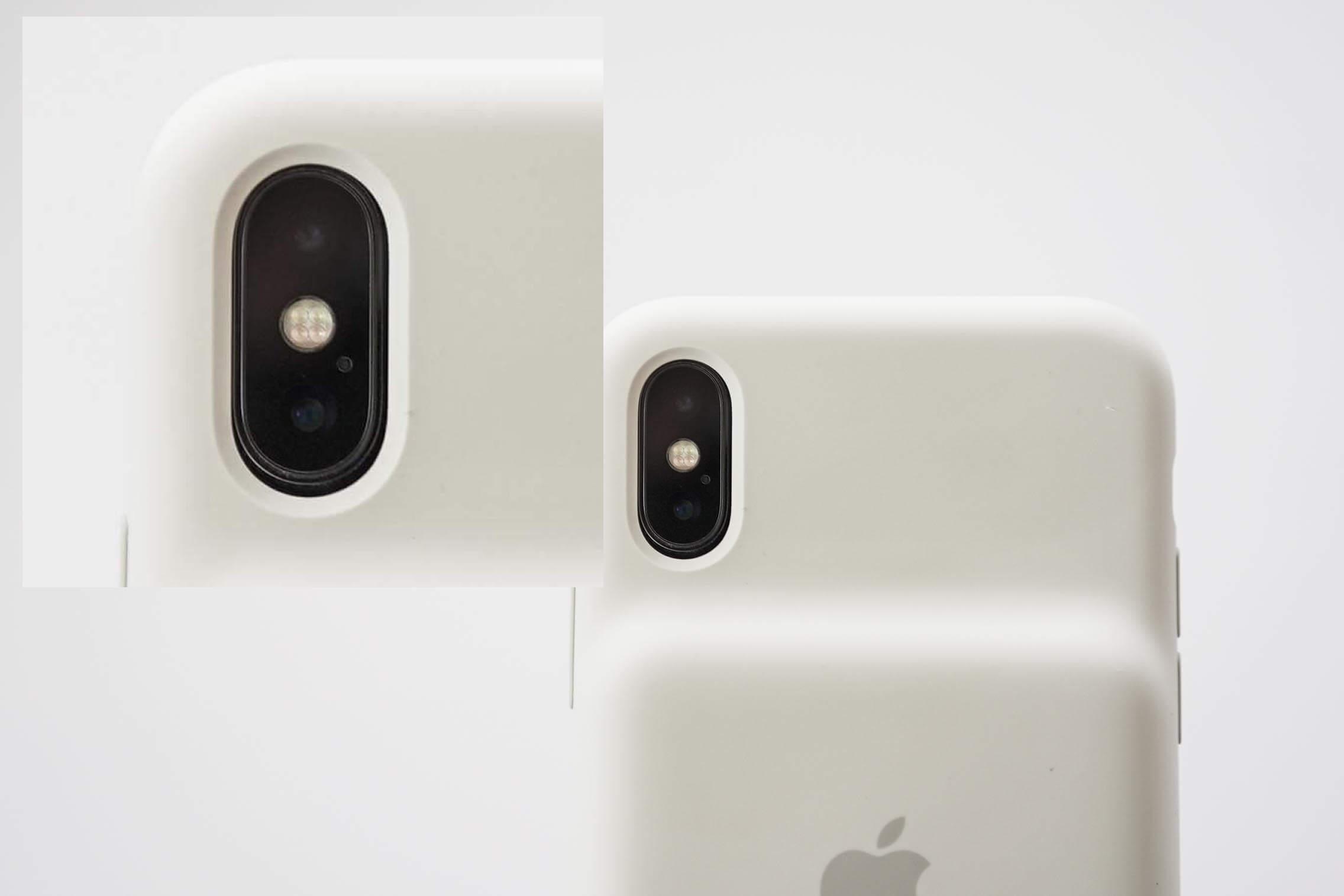 iPhone XS Smart Battery Case カメラ開口部分